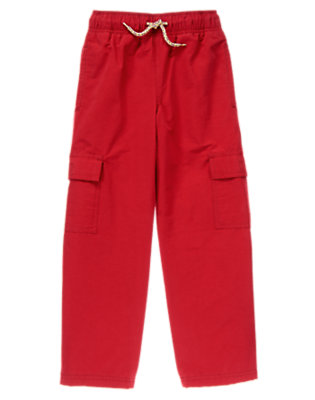 Boys Red Racer Cargo Active Pants by Gymboree