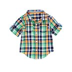 Plaid Button Front Top