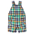 Spring Plaid Overall Shorts