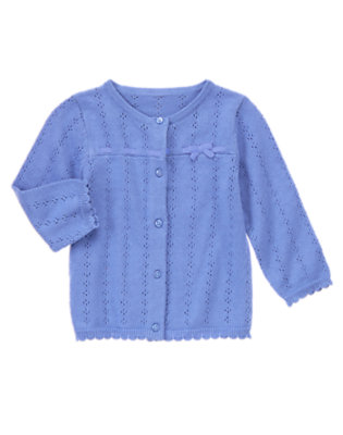 Blue Dots Pointelle Cardigan by Gymboree