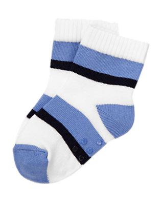 Baby Blue Stripes Striped Socks by Gymboree