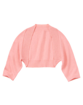 Girls Pink Peony Shrug Sweater by Gymboree