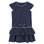 Swiss Dot Ruffle Dress