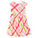 Plaid Bow-Back Dress