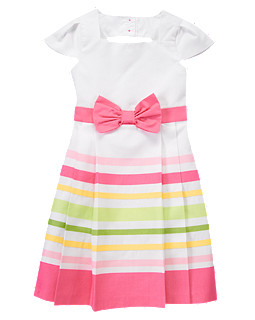 Candy Stripe Dressy Dress