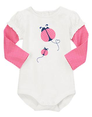 Baby White Ladybug Love Bodysuit by Gymboree