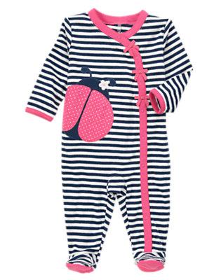 Baby Pink Ladybugs Ladybug Striped One Piece by Gymboree