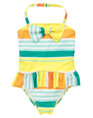 Girls Citrus Stripe Sunny Stripe One-Piece Swimsuit by Gymboree