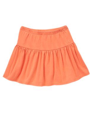 Girls Sweet Tangerine Solid Skort by Gymboree