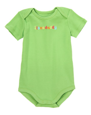Baby Kelly Green Daddy Love Bodysuit by Gymboree