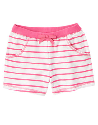 Girls Strawberry Stripe Bow Active Short by Gymboree