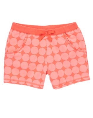 Girls Grapefruit Dot Bow Active Short by Gymboree