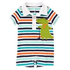 Alligator Striped Polo One-Piece