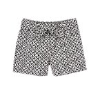 Belted Geo Print Shorts