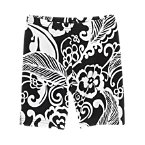 Graphic Floral Bike Shorts