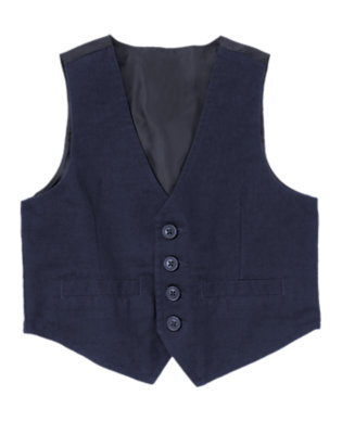 Gym Navy Button Vest by Gymboree