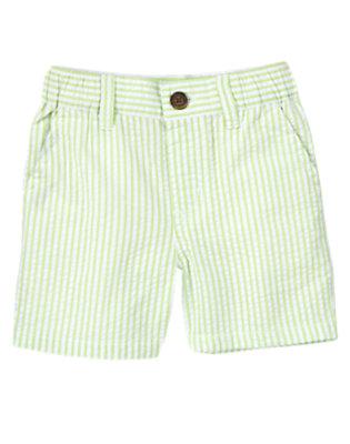 Spring Green Stripe Seersucker Short by Gymboree