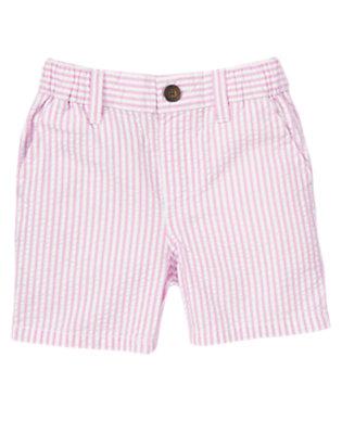 Lavender Stripe Seersucker Short by Gymboree