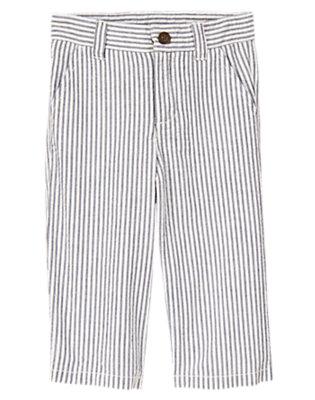 Toddler Boys Gym Navy Stripe Seersucker Pant by Gymboree