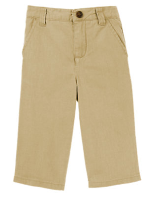 Toddler Boys Khaki Linen Pant by Gymboree