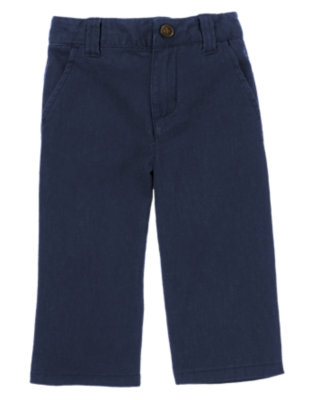 Toddler Boys Gym Navy Linen Pant by Gymboree