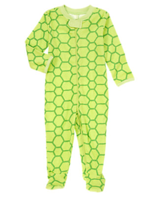 Baby Green Turtles Soft Turtle Footed One-Piece by Gymboree