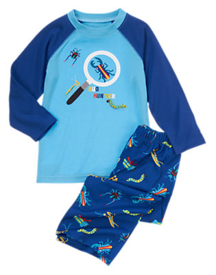 Light Blue Bug Hunter Two-Piece Pajama Set by Gymboree