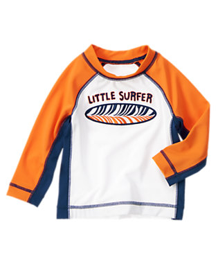 Toddler Boys Orange Sunset Little Surfer Rash Guard by Gymboree