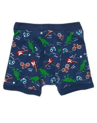 Toddler Boys Gym Navy Road Map Boxer Brief by Gymboree