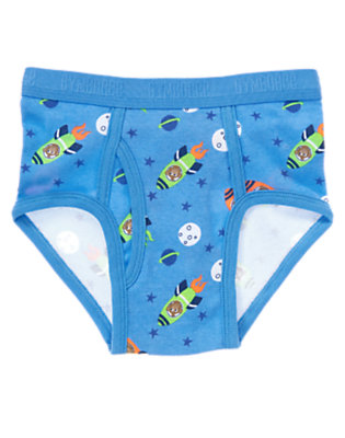 Toddler Boys Rocket Blue Spaceship Monkey Brief by Gymboree