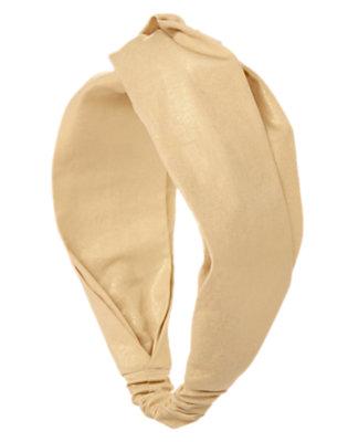 Glittering Gold Gold Knot Headband by Gymboree
