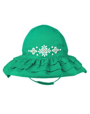 Toddler Girls Emerald Clover Clover Ruffle Hat by Gymboree