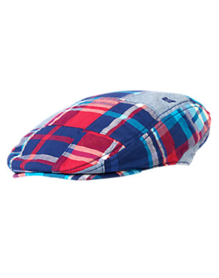 Toddler Boys Plaid Patchwork Anchor Patchwork Cap by Gymboree
