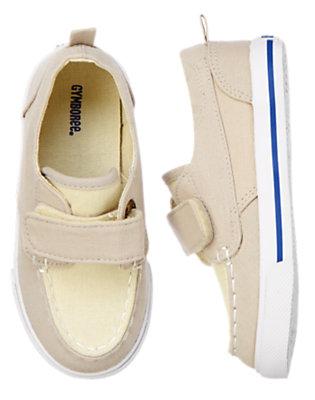Toddler Boys Khaki Canvas Boat Shoes by Gymboree