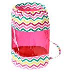 Clear Striped Chevron Backpack