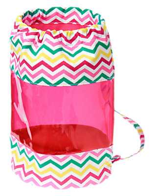 Girls Poolside Pink Clear Striped Chevron Backpack by Gymboree
