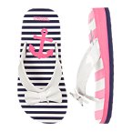 Anchor Stripe Bow Flip Flop