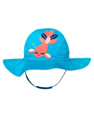 Blue Bubble Fancy Fish Sun Hat by Gymboree