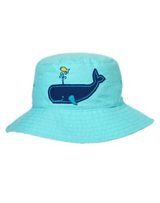 Toddler Boys Aqua Splash Reversible Whale Hat by Gymboree