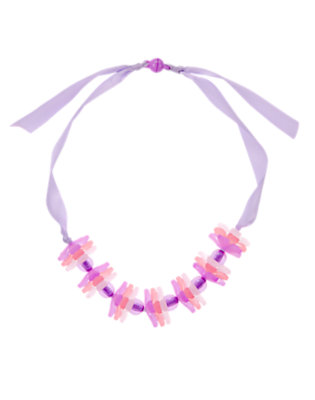 Plum Cherry Blossom Ribbon Necklace by Gymboree