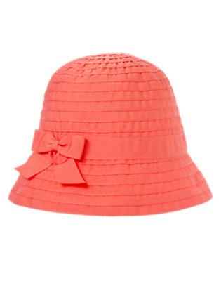 Girls Cherry Blossom Pieced Grosgrain Cloche Hat by Gymboree