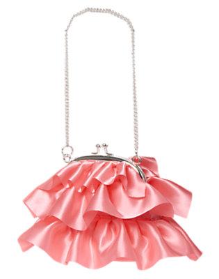 Girls Pink Peony Shiny Ruffle Purse by Gymboree