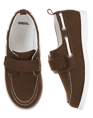 Boating Brown Canvas Boat Shoe by Gymboree