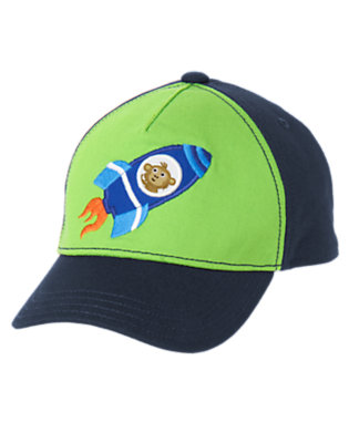 Toddler Boys Gravity Green Monkey Astronaut Hat by Gymboree