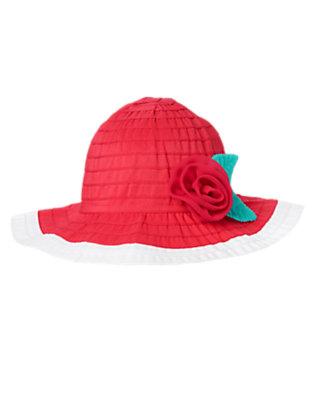 Toddler Girls Fucshia Rosette Ribbon Hat by Gymboree