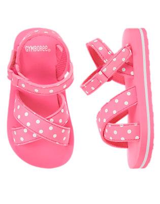 Toddler Girls Poolside Pink Polka Dot Flip Flop by Gymboree