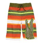 Gator Stripe Board Short