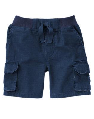 Toddler Boys Navy Blue Cargo Ripstop Shorts by Gymboree