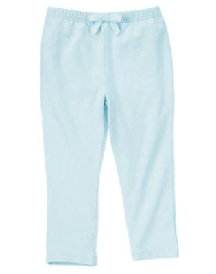 Toddler Girls Sky Blue Pocket Legging by Gymboree
