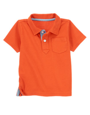 Road Sign Red Solid Polo by Gymboree